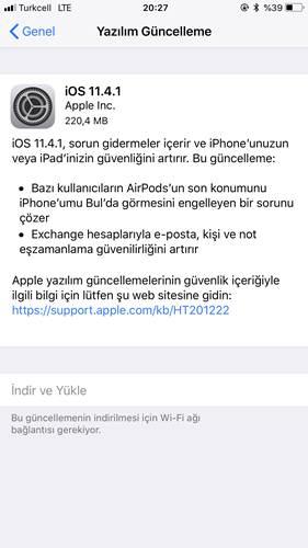 iOS 11.4.1 güncellemesi yayınlandı!