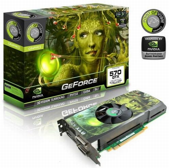 Point Of View 2.5GB GDDR5 bellekli GeForce GTX 570 modelini duyurdu