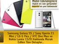 Mobilite: Samsung Galaxy S5, Sony Xperia Z1 Mini, LG G Flex, HTC One Max ve Nokia Lumia 1520...