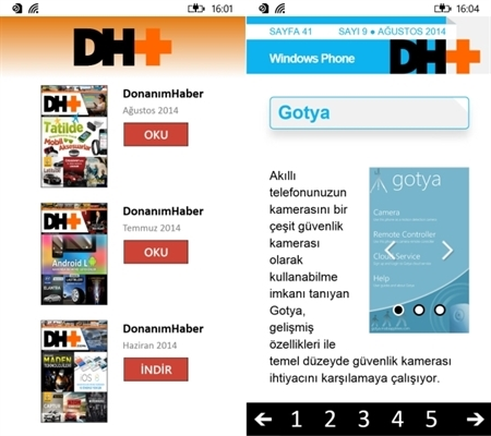 DH+ Dergi Artık Windows 8.1,Windows Phone 8 ve 8.1'de