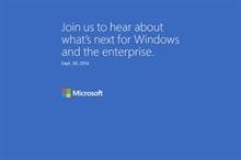 Windows 9 etkinliği 30 Eylül'de düzenlenecek