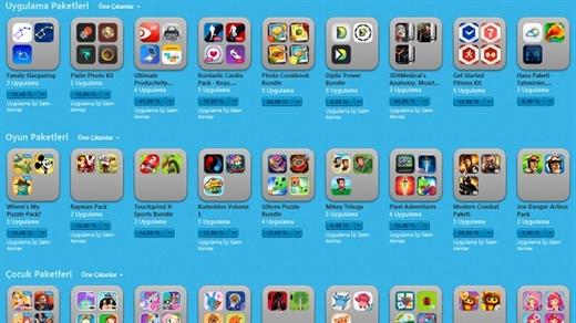 Uygulama ve oyun paketleri Appstore'daki yerini aldı