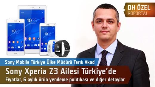 Sony Xperia Z3 ailesi Türkiye'de: Fiyatları, 6 aylık ürün döngüsünü ve diğer detayları konuştuk