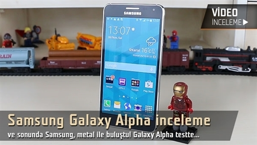 "Samsung Galaxy Alpha video inceleme ""Samsung'un metal ile imtihanı"""