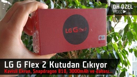 LG G Flex 2 kutudan çıkıyor: Kavisli ekran ve Snapdragon 810 işlemcili telefon