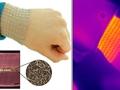 Gümüş nanoteller ile hazırlanan örgü, vücudun istenilen bölümlerine ısı uygulaması yapabiliyor