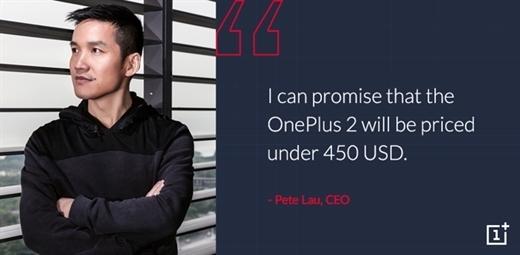 """OnePlus 2'nin fiyatı belli oluyor: """"450 doların altında!"""""""