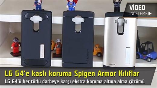 """LG G4 için zırhlı kılıflar """"Spigen Slim Armor serisi"""" video inceleme"""
