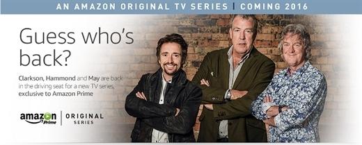 Amazon, eski Top Gear sunucularını yeniden bir araya getiriyor