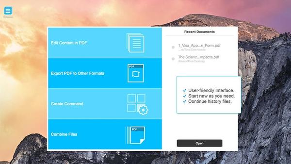 Mac için yeni uygulama: PDFelement