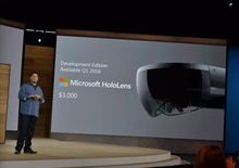 """Microsoft HoloLens'in """"geliştirici"""" versiyonu 3,000$'dan satılacak"""