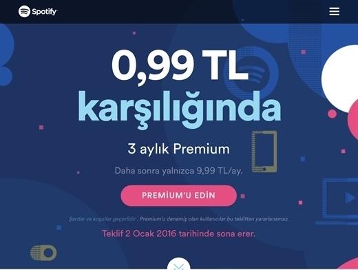 Spotify Premium 3 aylığına 1 liradan daha ucuza
