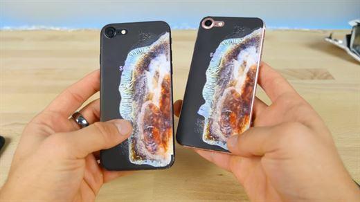 Samsung kullanıcılarını kızdıracak patlamış Galaxy Note 7 görünümlü iPhone 7 kılıfı