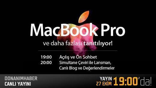 Yeni Macbook Pro lansmanı canlı yayın | Türkçe Simultane çeviri