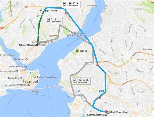 Google Maps artık ülkemizde toplu taşıma bilgilerini de gösteriyor