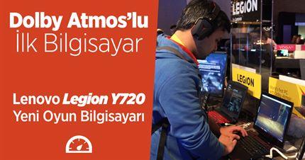 Lenovo Legion Y720 ön inceleme videosu: Dolby Atmos'lu oyun bilgisayarı