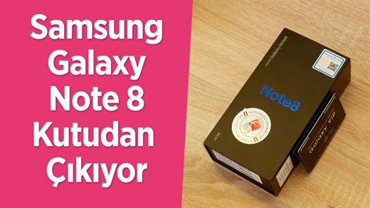Samsung Galaxy Note 8 kutudan çıkıyor