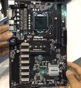 Bu bilgisayarın 8 tane ekran kartı var: ASRock H110 Pro BTC+