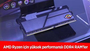 AMD Ryzen için yüksek performanslı DDR4 RAM'ler