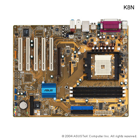 ASUS K8N - motherboard - ATX - Socket 754 - nForce3 250 Series Specs