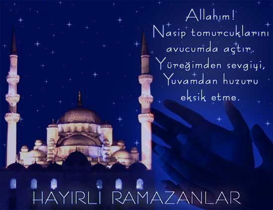 Ramazan-ı Şerifiniz mübarek olsun