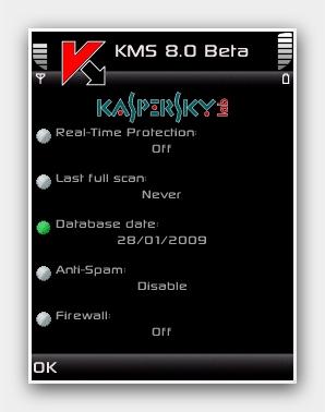 Kaspersky Mobile Secuirty v8.0.38 Beta2.
