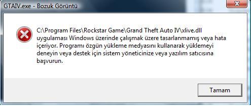 Ошибка при запуске GTA 4, не найден фаил xlive dll
