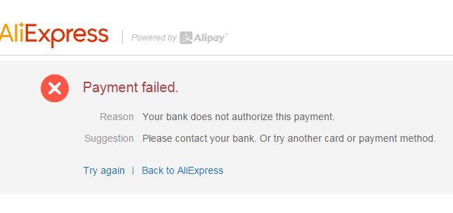 1c87182f-2a52-4c54-86b5-19437f44558f Aliexpress Payment Failed Hatası